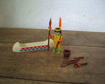 PLAYMOBIL - 3352 - Indian/Canoe - 1974 vintage collection