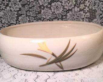 Mid Century Winfield Ware Pottery Santa Monica Casserole Dish Yellow Iris