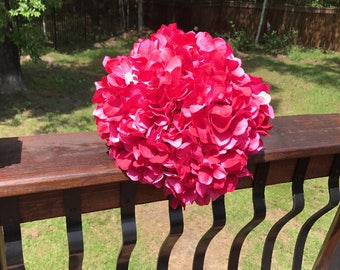 Watermelon colored bridal bouquet