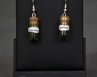 Handmade gillyweed potion earrings - harry potter, harry potter earrings, harry potter potion, harry potter jewellery, potter jewelery