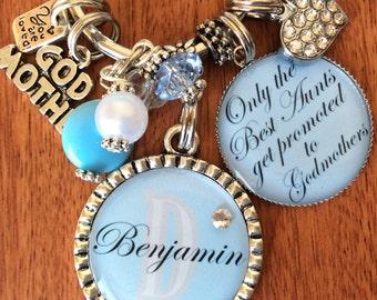 Personalized Godmother Keychain, Godmother Gift, Gifts For Godmothers, Godmother Birthday, Godmom Birthday, Godmom Gifts, Christening Gifts