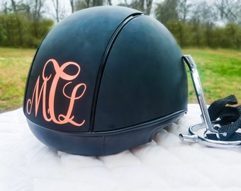 Helmet Monogram Helmet Decal Equestrian Monogram Custom - Custom motorcycle helmet decals