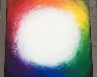 LIGHTSOURCE II Acrylic painting