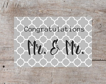 Gay Wedding Card, Gay Wedding, Gay Congratulations, Mr Gay Marriage, Gay Marriage, Gay Men Marriage Card, Gay Men Marriage Congratulation