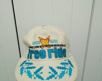 Rare Vintage FREE RIDE Cap Hat Free size fit all