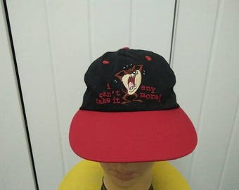 Rare Vintage Copyright 97' Looney Tunes Character TASMANIAN DEVIL Embroidered Cap Hat Free size fit all