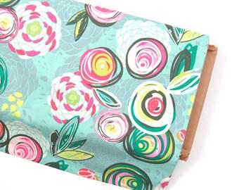Sprayed Blooms Bright  - Chalk & Paint - HALF YARD - Art Gallery Fabric - Cotton Fabric - Quilting Fabric