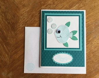 Oh Happy Day Fish Card