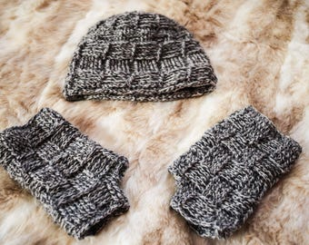 Daniel Crocheted Hat and Gloves Set