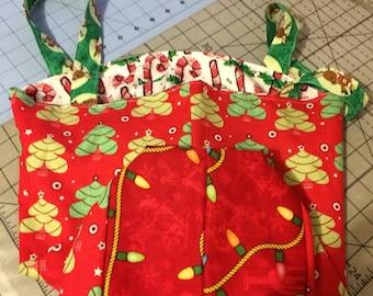 Reversible Holiday Tote Bag