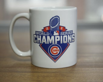 "Chicago Cubs World Series Color Changing 11oz. Coffee Mug with FREE ""W"" Decal. Makes a Great Valentines Gift."