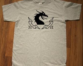 T-shirt with Tribal Art Dragon Logo