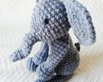 Elephant Baby Rattle/ Baby Toys/ Crochet Elephant/ Stuffed Animals/ Toys for babies/ Amigurumi Elephant/ Baby Shower Gift/ Crochet Animal