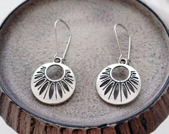 Silver Tribal Earrings   Silver Abstract Earrings   Tribe Gypay Earrings