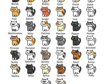 All 38 Neko Atsume Cross Stitch Patterns (Bundle!) (Updated!)