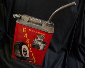 Car art vintage gas can