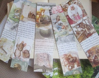 Beatrix potter bookmarks x 5