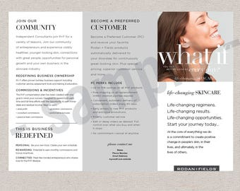 Australia // tri-fold brochure // EDITABLE digital file // skincare // Rodan+Fields inspired // INSTANT DOWNLOAD // 2-sided