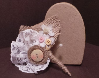 Shabby Chic Buttonhole