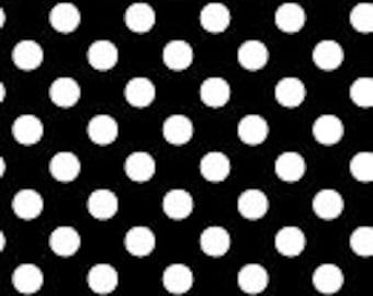 So Sweet Love Black White Polka Dot Fabric Yardage by Susan Cousineau for Marcus Fabrics R37-9668-0112 100% Cotton