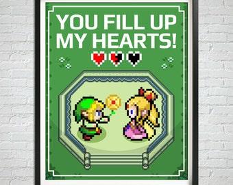 INSTANT DOWNLOAD, Gamer Prints, Printable Wall Art, Downloadable Poster, Gamer Love, Geek Love, Video Games Art, Gamer Art Print, Gamer Gift