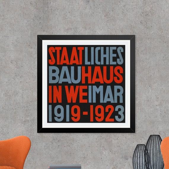 Bauhaus print staatliches bauhaus in weimar 1919 1923 for Staatliches bauhaus