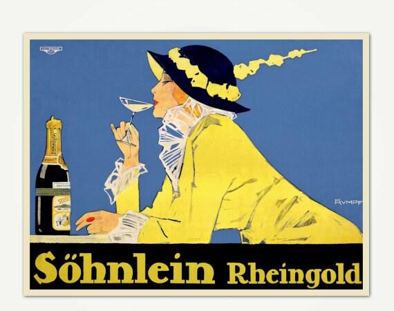 Vintage Champagne Poster
