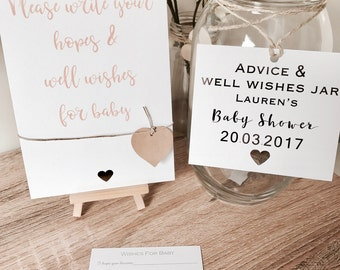 Baby shower Well wishes & advice Jar