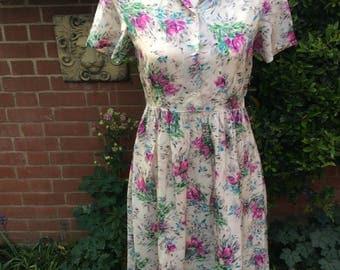 1940/50's Floral print Tea Dress