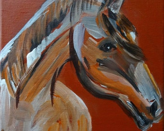 Horse head, original acrylic painting