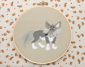 Big Bad Wolf Cross Stitch Pattern PDF | Little Red Fairy Tale Series | Easy | Modern | Beginners Counted Cross Stitch | Instant Download