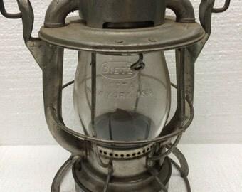 Vintage Dietz Vesta Railroad Lantern Antique New York City Line Train Conductor Light