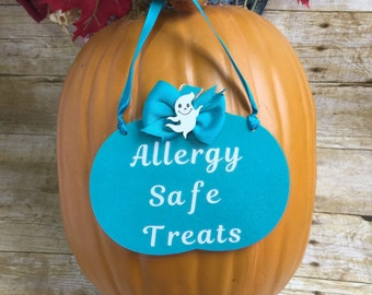 Teal Pumpkin Allergy Safe Treats Sign