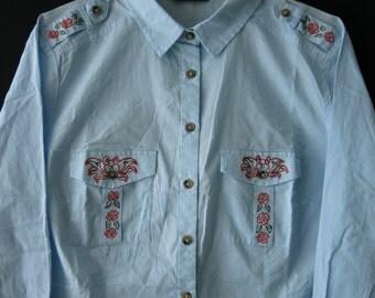 Women's hand painted shirt