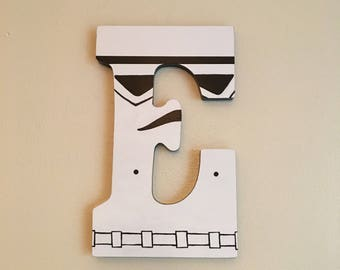 """Star Wars Stormtrooper 9"""" Hand-Painted Wall Letters"""