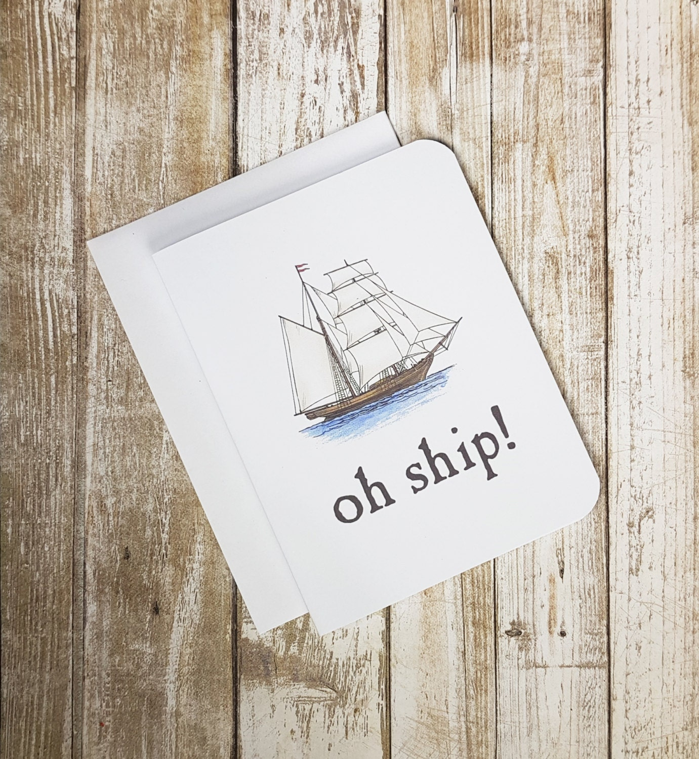 Apology card oh ship greeting card sorry card greeting card apology card oh ship greeting card sorry card greeting card ship play on words funny card nautical card kristyandbryce Gallery