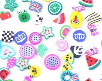 Fimo Shapes, Fimo Fruit, Fimo Animals, Fimo Clay, Miniature Fimo, Fimo Slices, Miniature Shapes, 5mm Shapes, Tiny Shapes, Tiny Cabochons,