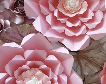 Paper Flower Template in PDF file #4