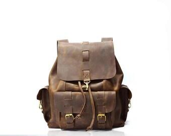 Leather backpack, laptop backpack, leather bag men, Leather Rucksack. leather backpack women, mens leather backpack, school backpack