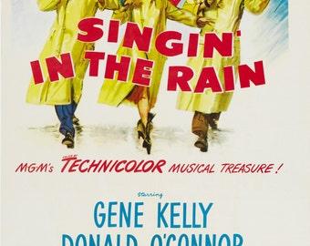 Singin in the Rain Debbie Reynolds movie poster 11x17