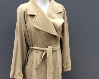 Vintage eighties guy laroche belted trench coat | size small medium large
