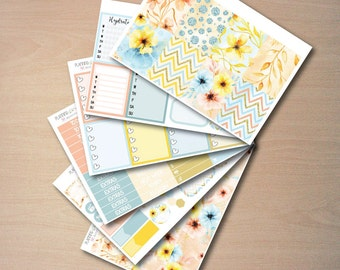 Fall Flowers Weekly Kit for Erin Condren Vertical Life Planner