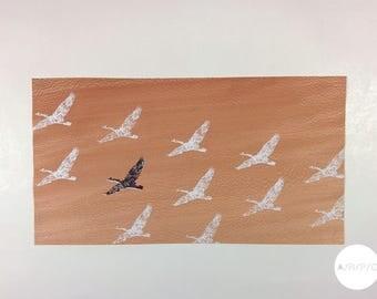 Affiche décorative sur placage de bois