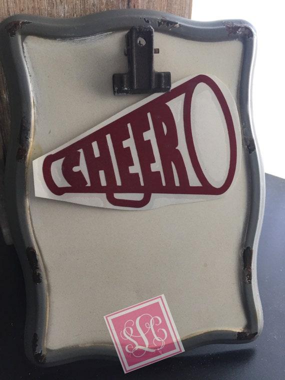 Cheer megaphone decal