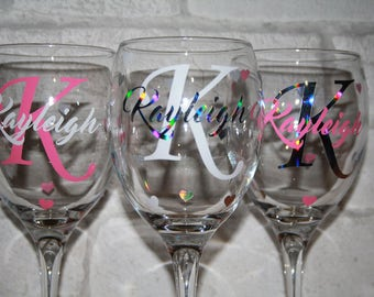 personalised wine glass / wine glass / name wine glass / personalised name / wine glass / named wine glass