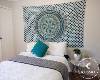 Bohemian mandala wall tapestry hanging