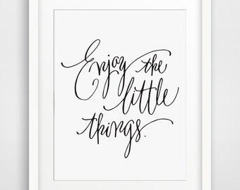 Enjoy Life Printable Motivational Verse, Art Print, Typography poster, Inspirational, digital, INSTANT DOWNLOAD, Calligraphy, Paper Crown