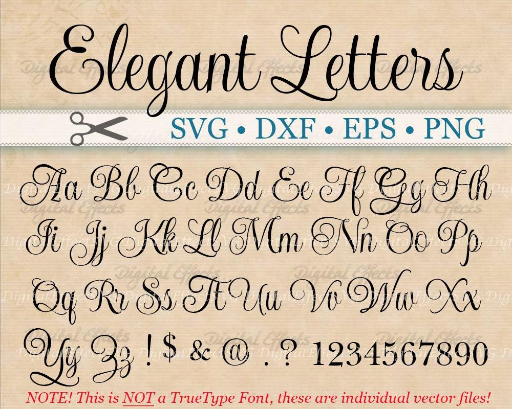 ELEGANT Script Font Monogram Svg Dxf Eps Png Digital