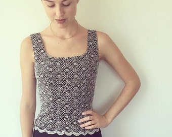 Stretchy Black and White Tank