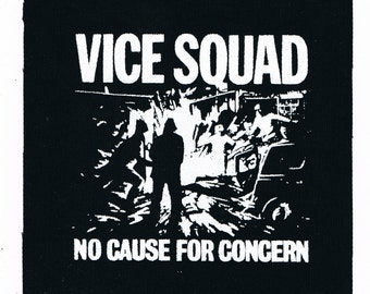 Vice Squad Punk Band Patch